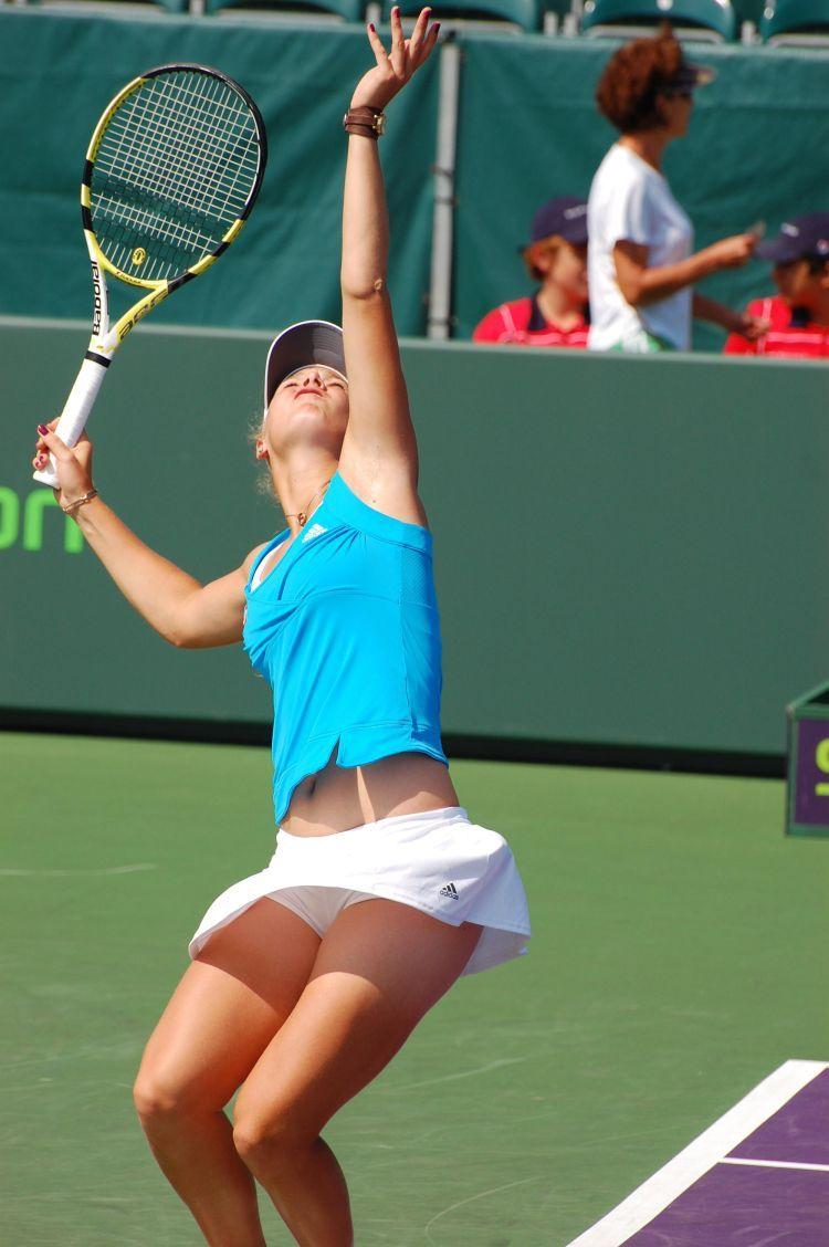 Amateur tennis upskirt