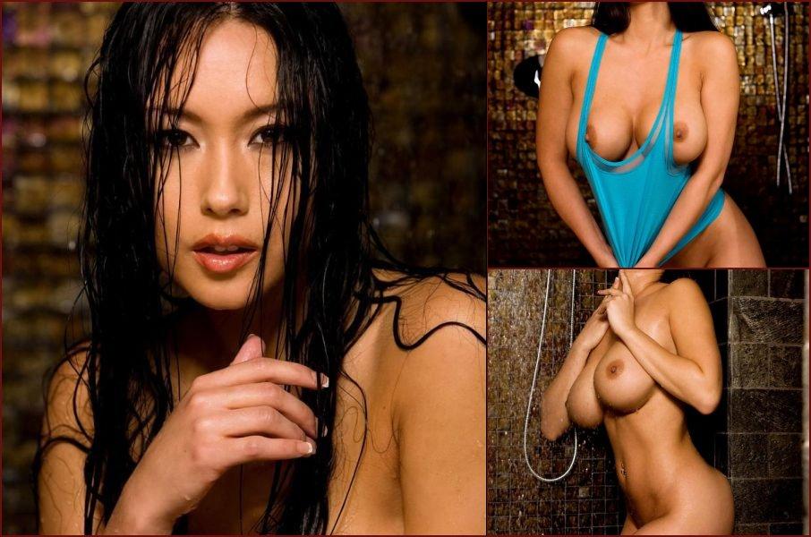 Busty Julri in a shower - 9