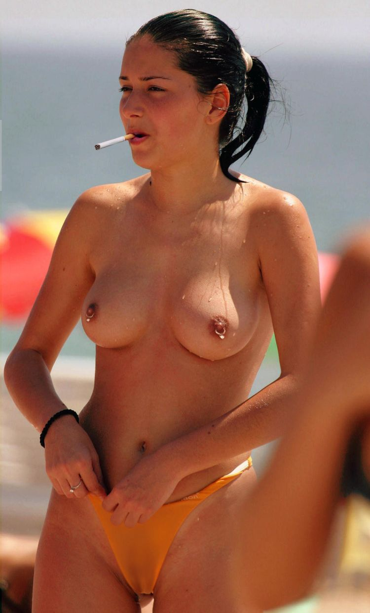 topless beach nipple rings