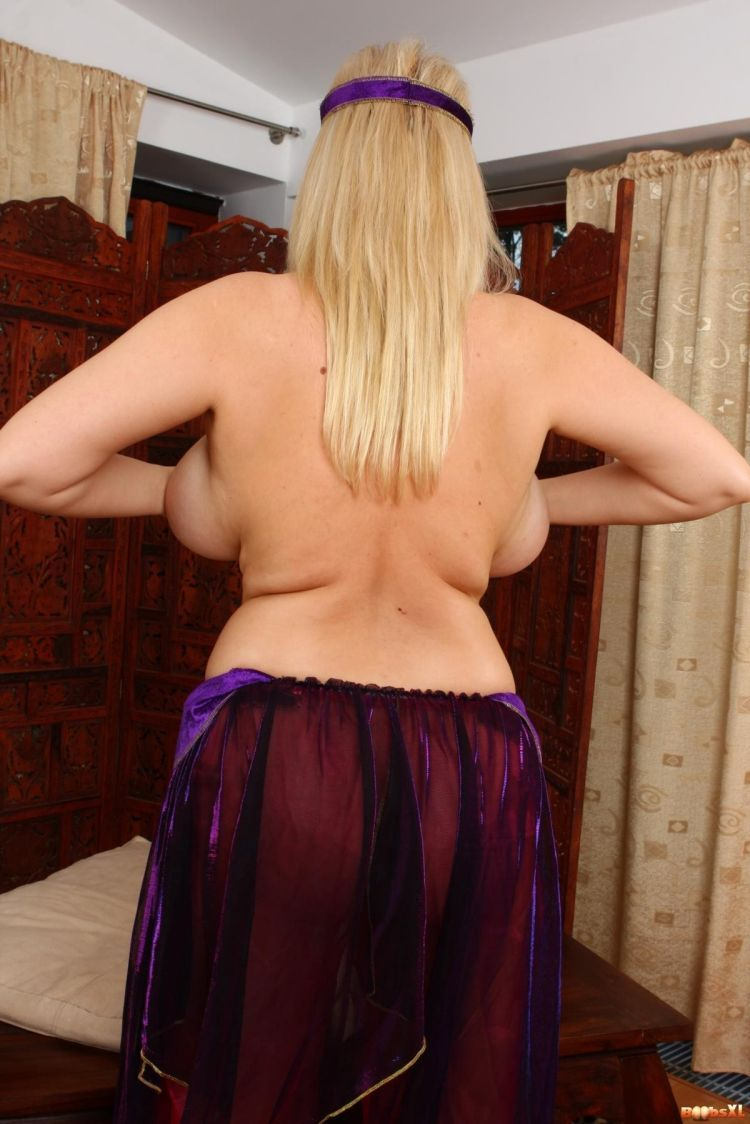 Big breasts from the back look very funny - 08
