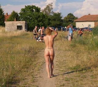 Walking naked in the fresh air