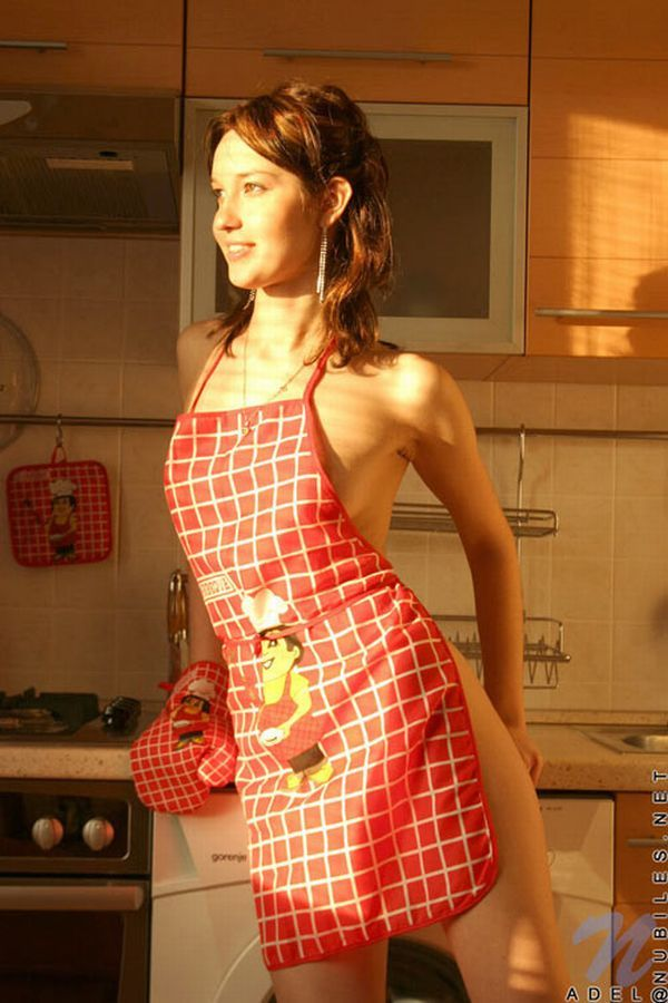 Rather Earlier Sexy nude babes in aprons agree, amusing