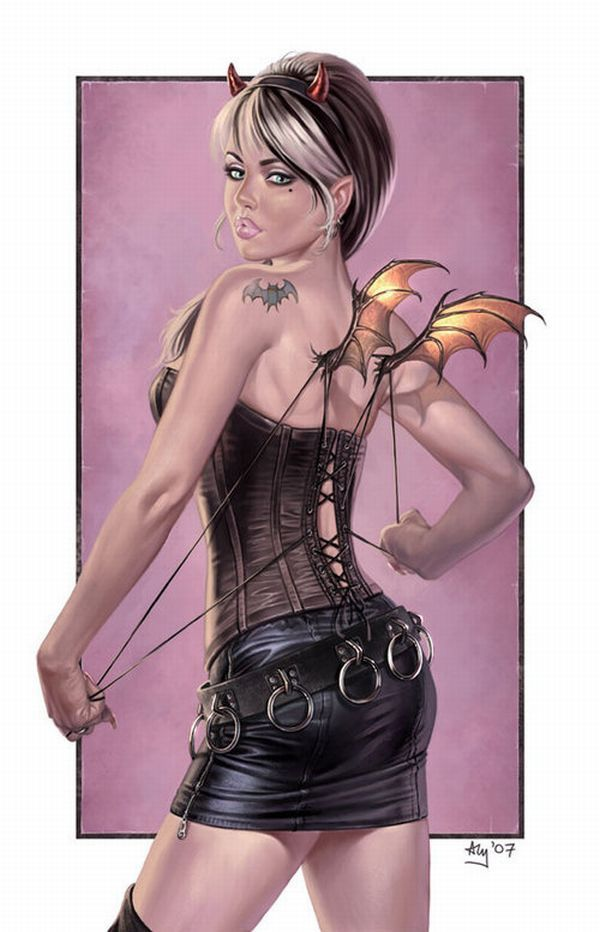 Amazing pinup drawings - 19