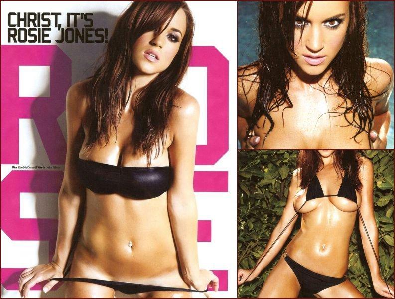 Beautiful breasts of Rosie Jones in the Loaded magazine - 6