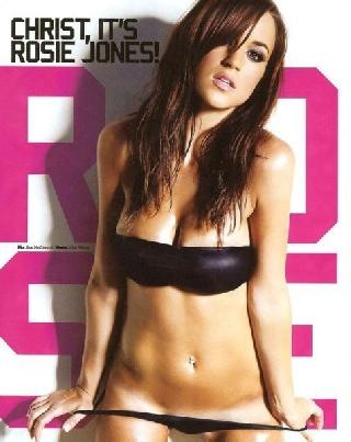 Beautiful breasts of Rosie Jones in the Loaded magazine