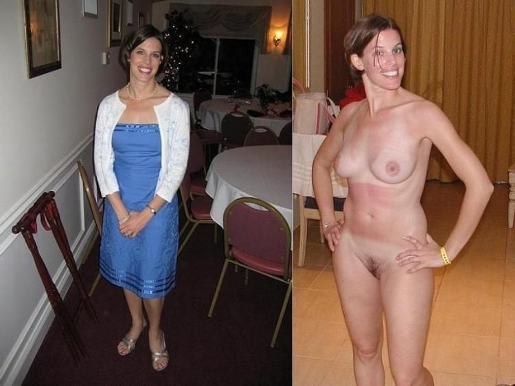 Clothes naked woman with no
