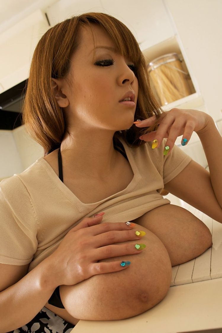 Wow! Asian babe with mega tits - 08