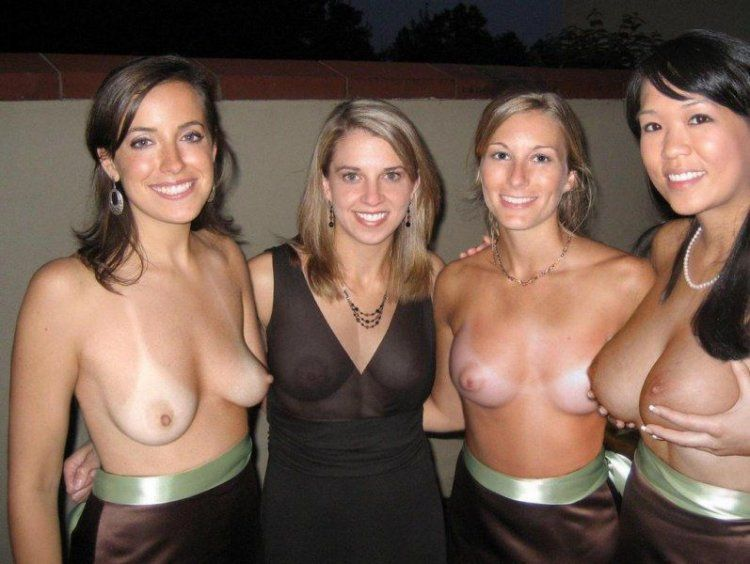 Girls show their tits - 25