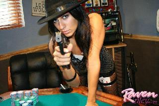 Hot Raven Riley playing sexpoker