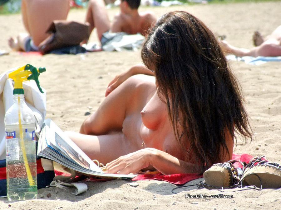 Hot girls on nudist beach - 15