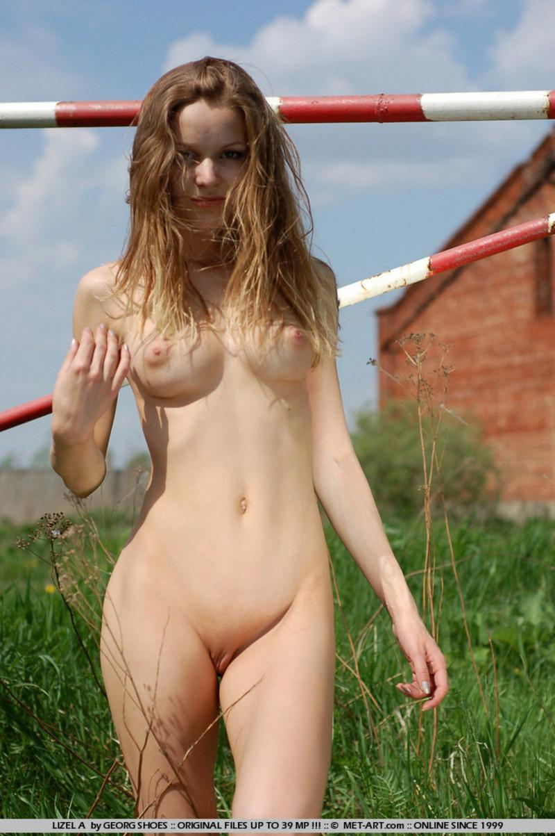 Beautiful nude girl posing her petite body - 13