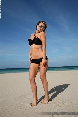 Sexy Jenna on the beach
