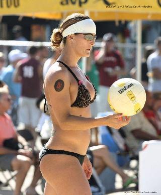 Voyeur beach volleyball