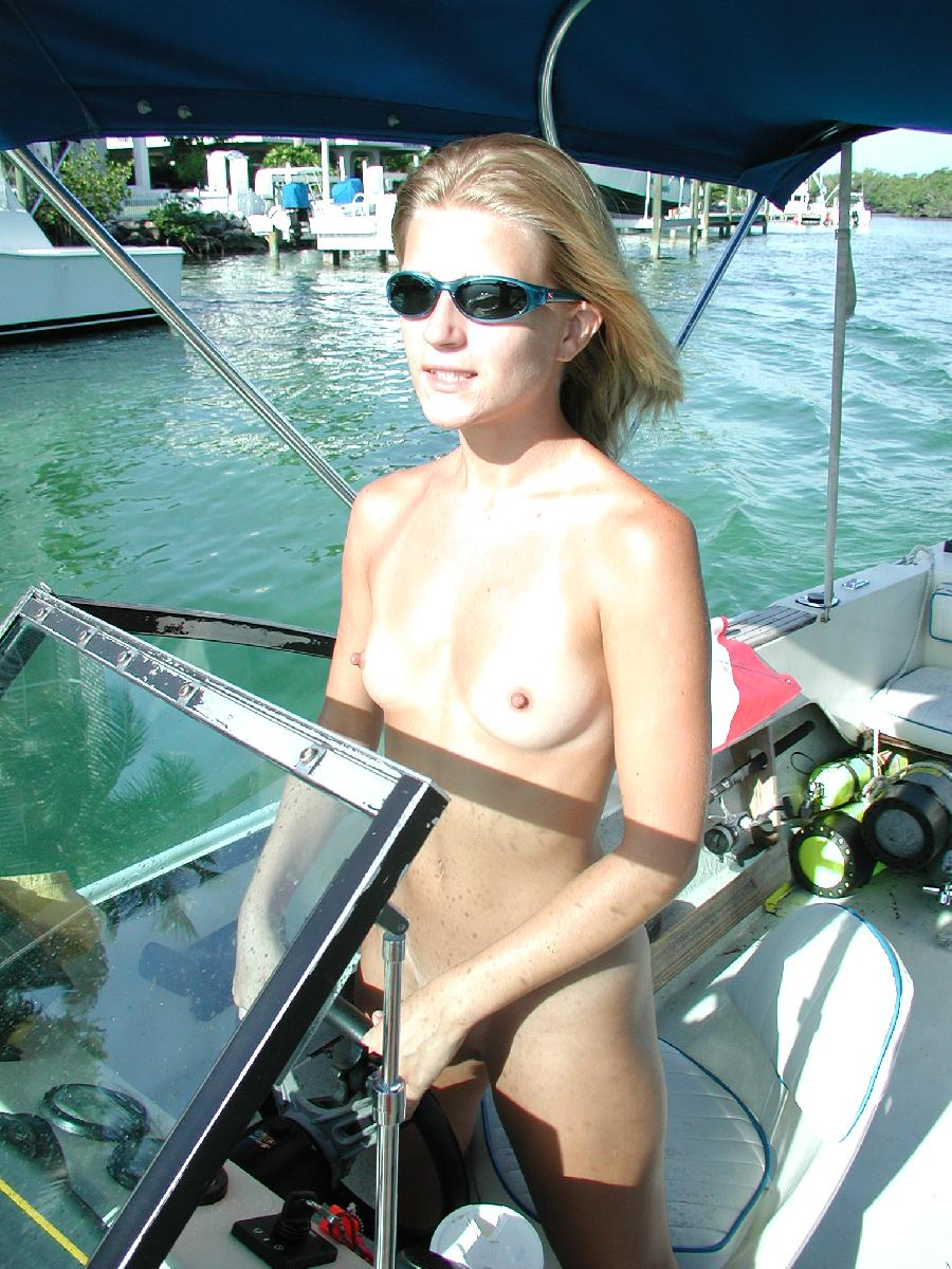 Sexy blonde and her holiday on boat - 11