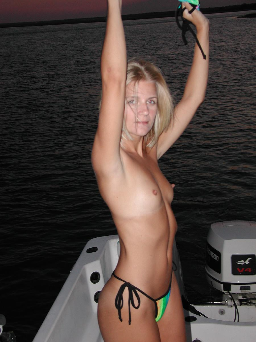 Sexy blonde and her holiday on boat - 12