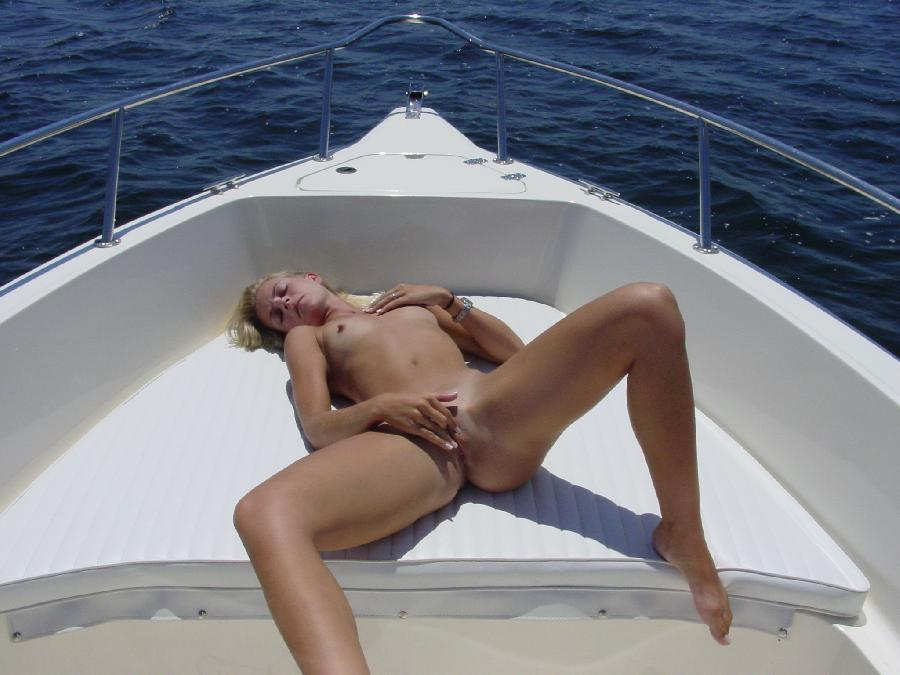 Sexy blonde and her holiday on boat - 6