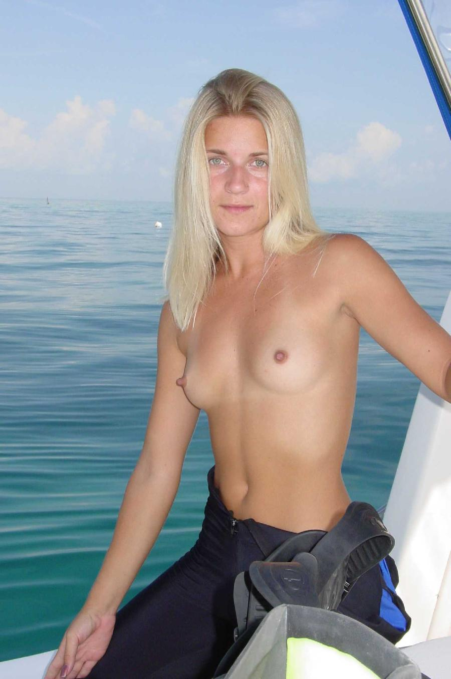 Sexy blonde and her holiday on boat - 9